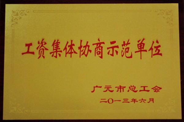 广元市工资集体协商示范单位