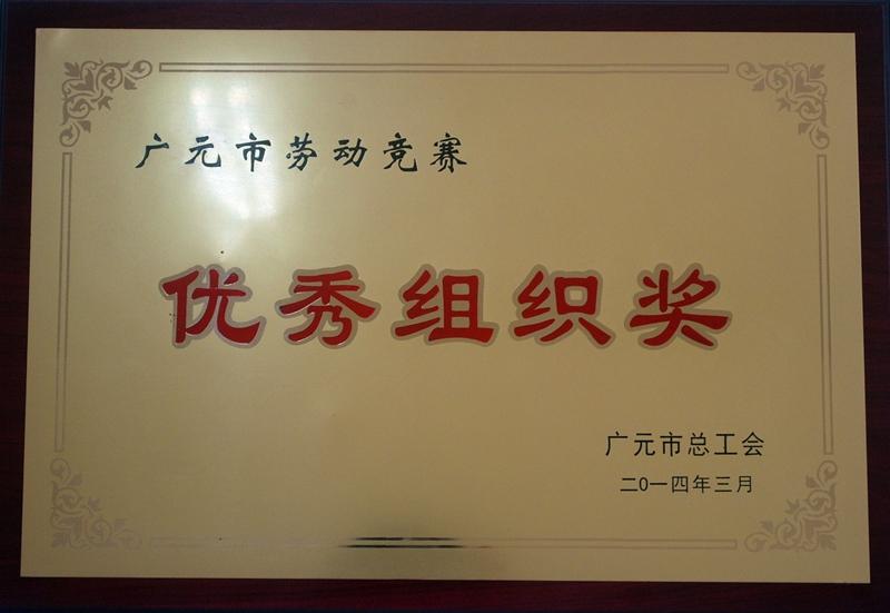 广元市劳动竞赛优秀组织奖